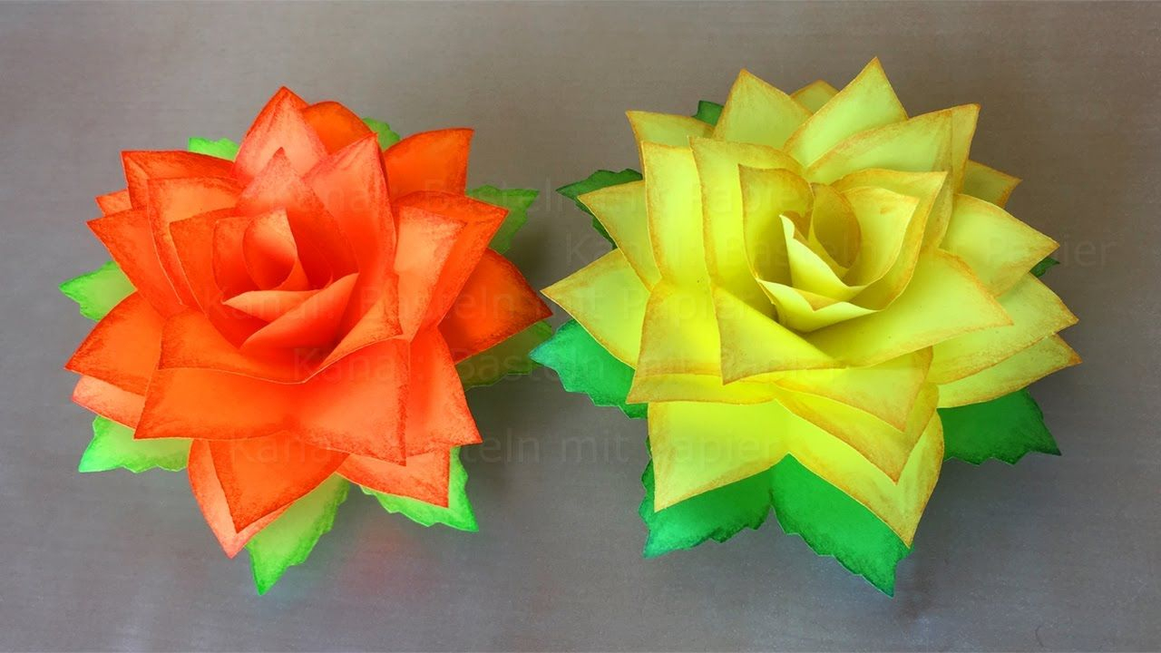 Faire Une Rose En Papier - Fleur En Papier - Bricolage dedans Origami Rose Facile A Faire