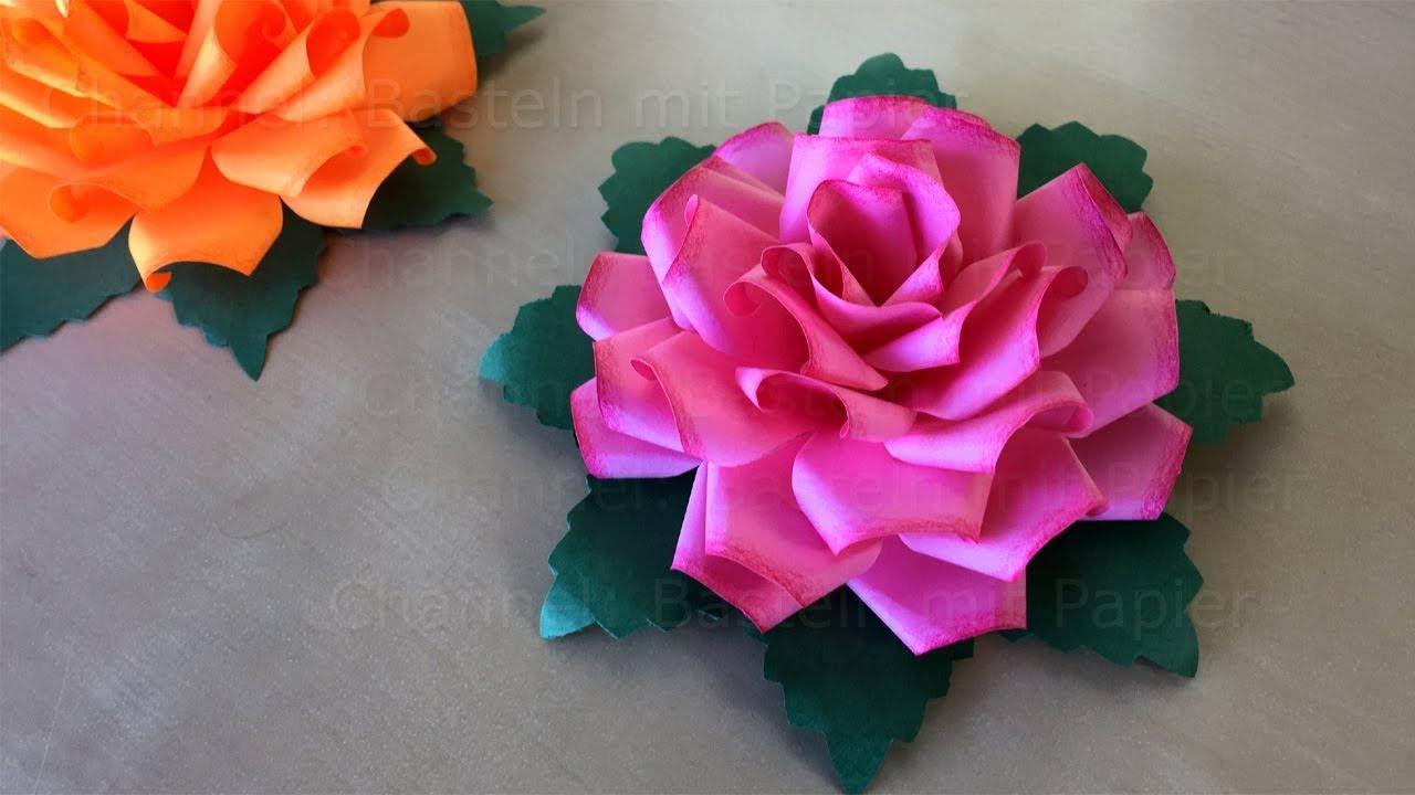 Faire Une Rose En Papier - Fleur En Papier - Bricolage serapportantà Origami Rose Facile A Faire