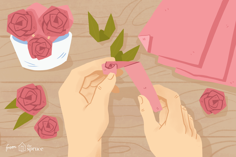 Faire Une Rose Facile Origami 2020 - To Do à Origami Rose Facile A Faire