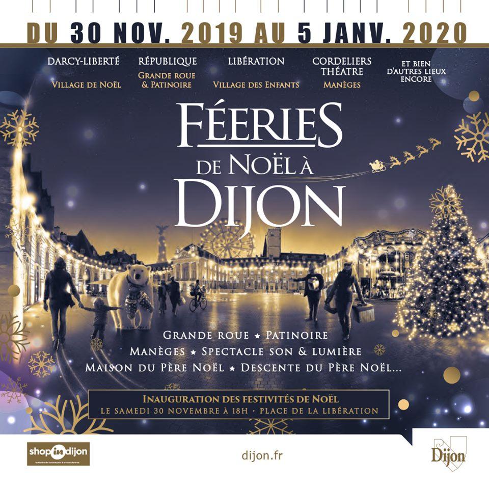 Féeries Et Marché De Noël De Dijon Zu Dijon à Musique Du Père Noël