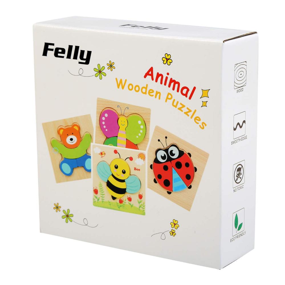 Felly Jouet Bebe - Puzzles En Bois, Jouet Enfant 1 2 3 4 Ans tout Jeux Educatif 4 Ans