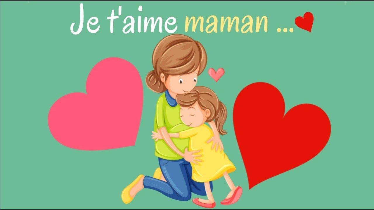 Fête Des Mères - Je T'aime Maman encequiconcerne Texte Maman Je T Aime