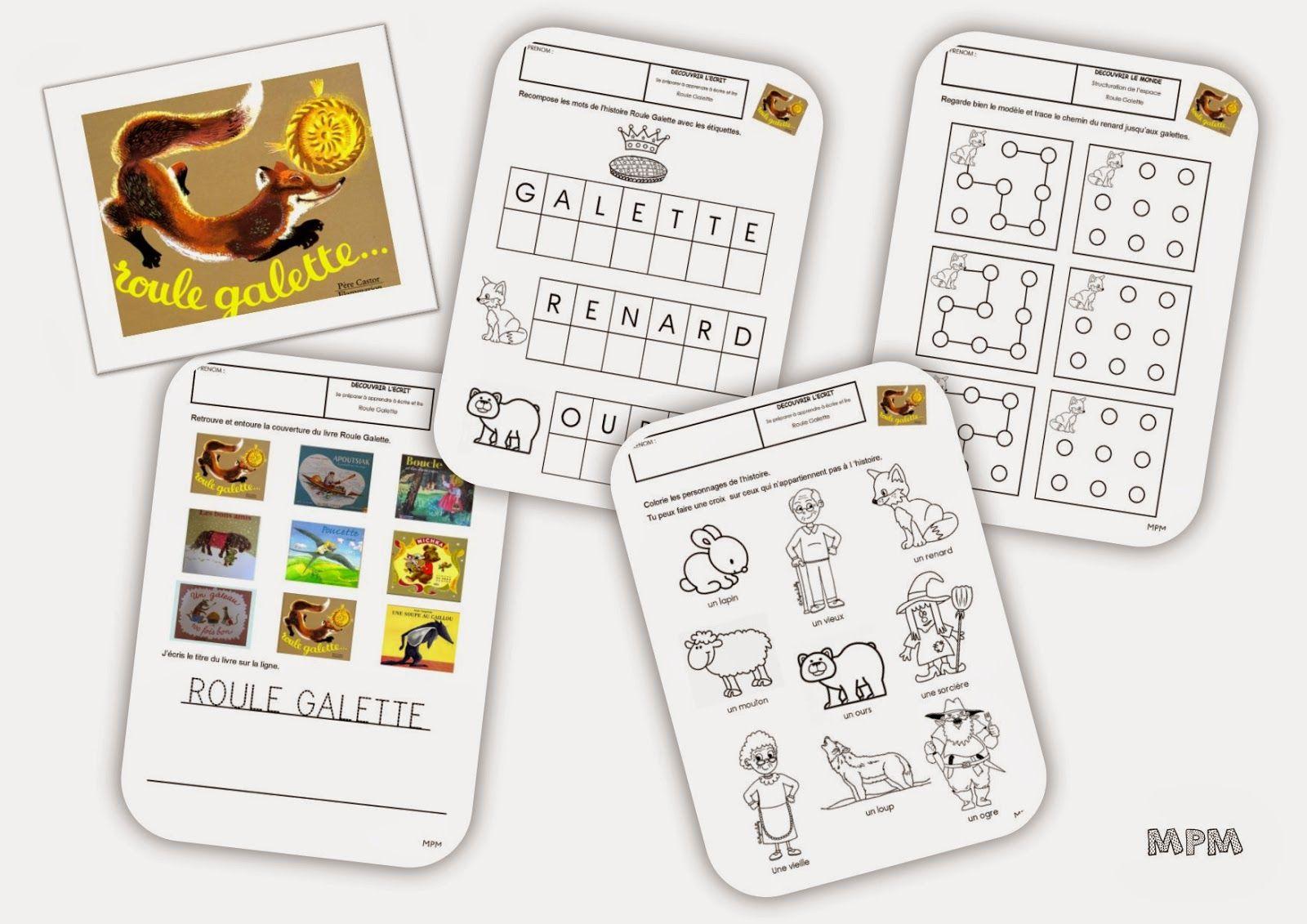 Fiches De Travail Ms - Roule Galette | Roule Galette, Roule tout Histoire Roule Galette