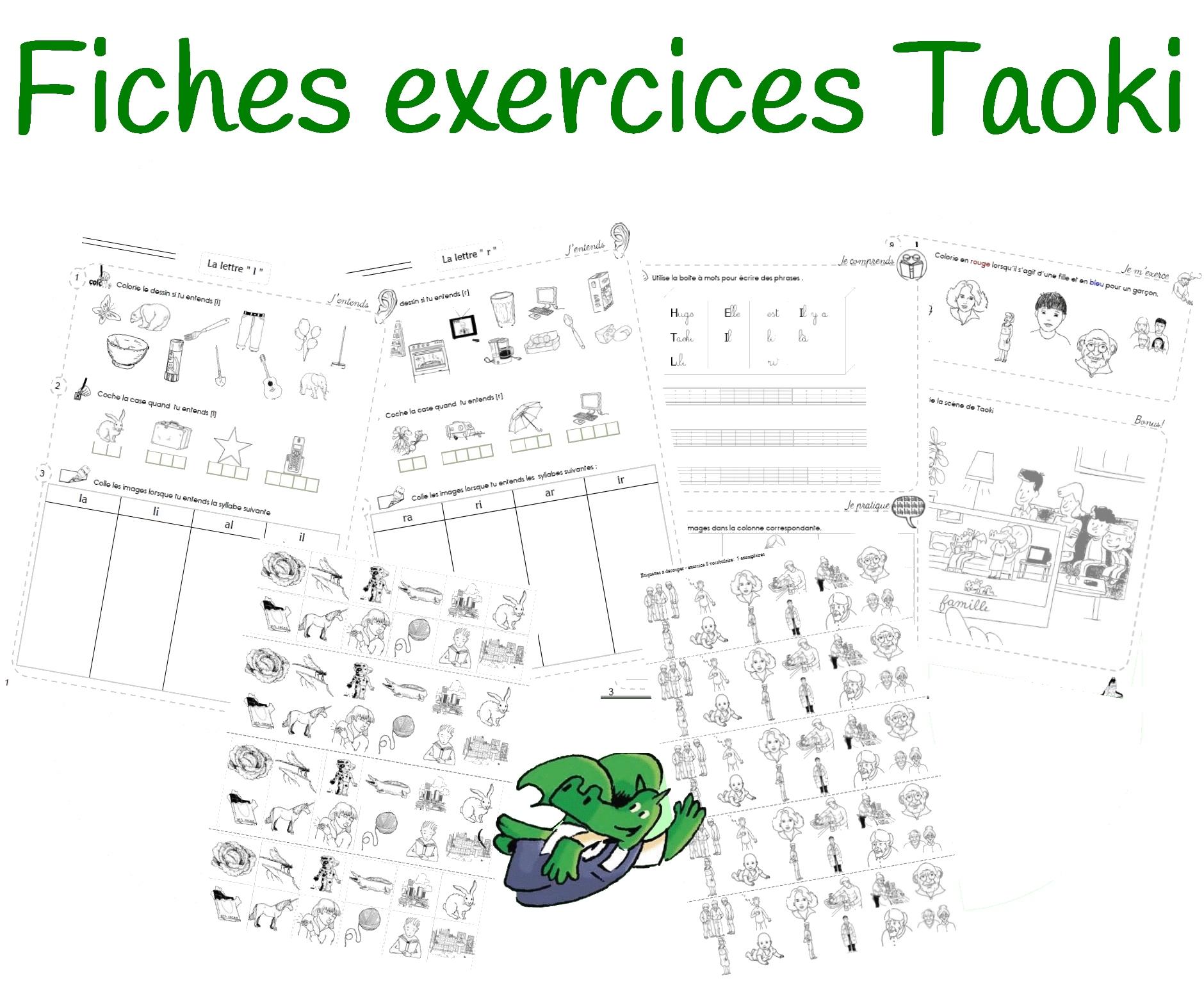 Fiches D'exercices Différenciées Taoki serapportantà Le Son F Cp