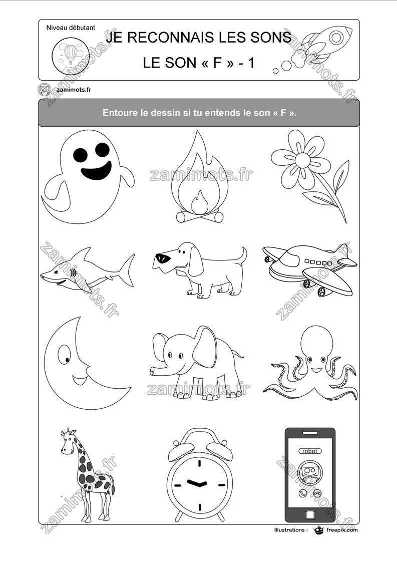 Fiches Pour Apprendre Ou S'amuser | Leçons De Mathématiques concernant Le Son F Cp