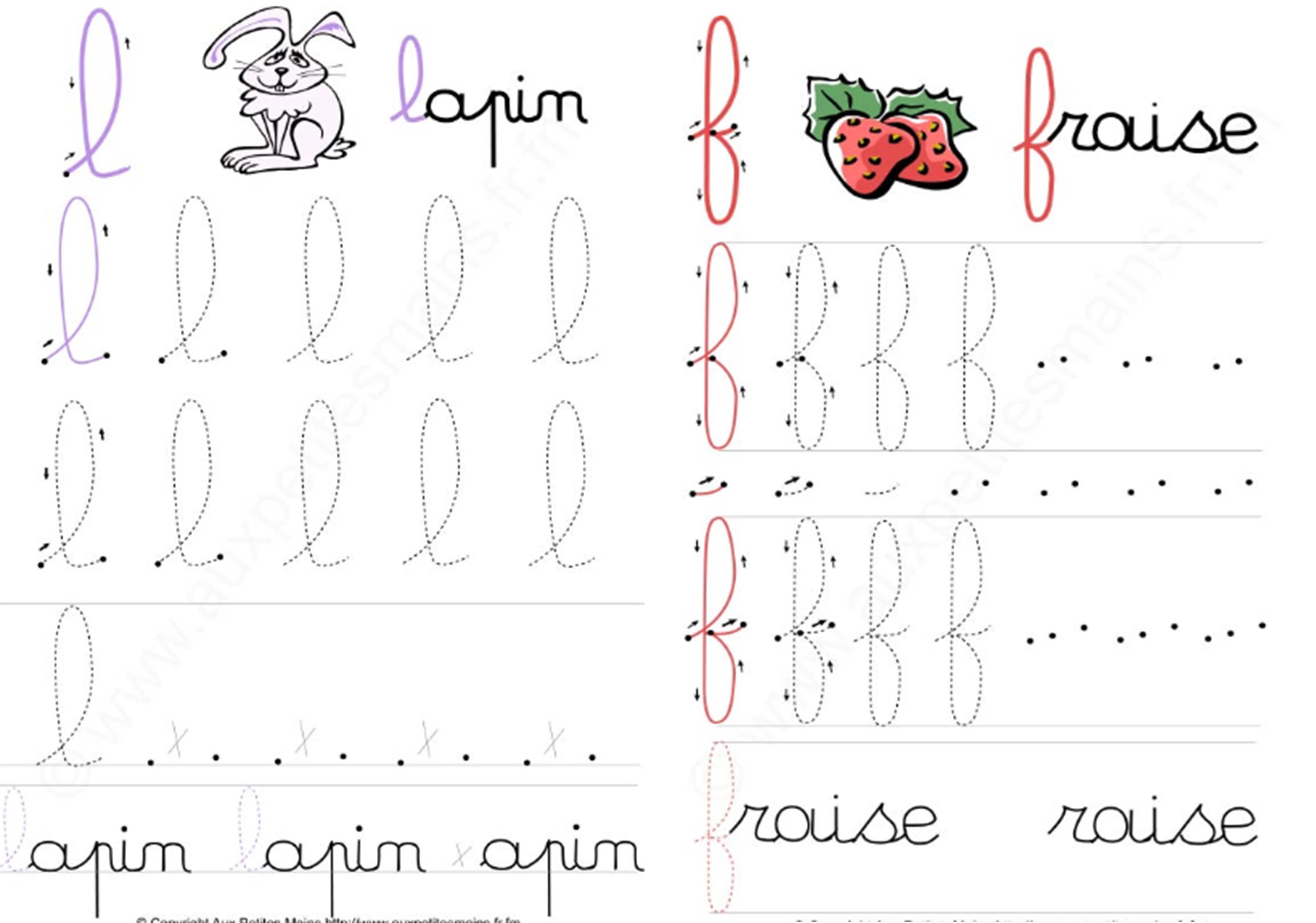 Fichier D'écriture Minuscules Majuscules En Cursif Cp Ce1 avec T Majuscule En Cursive