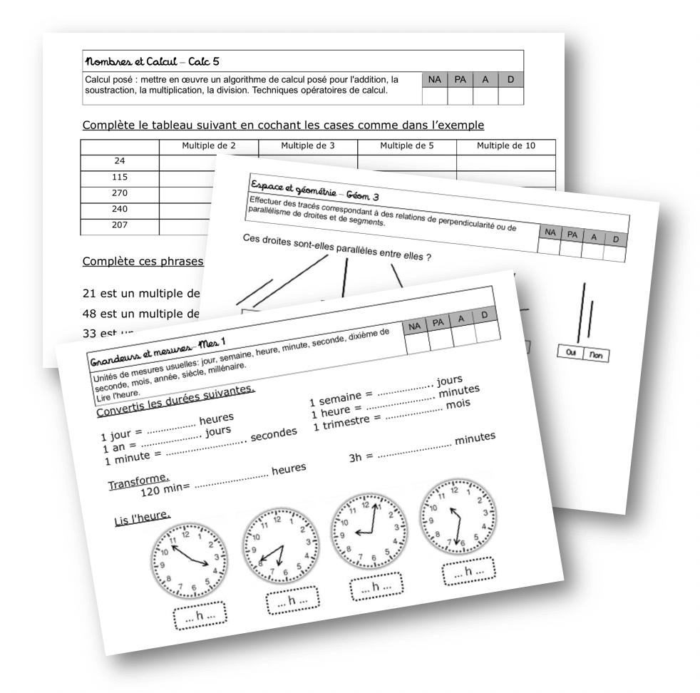 Fichier D'évaluation Maths Cm1 – La Classe De Mallory dedans Exercice Cm2 Gratuit