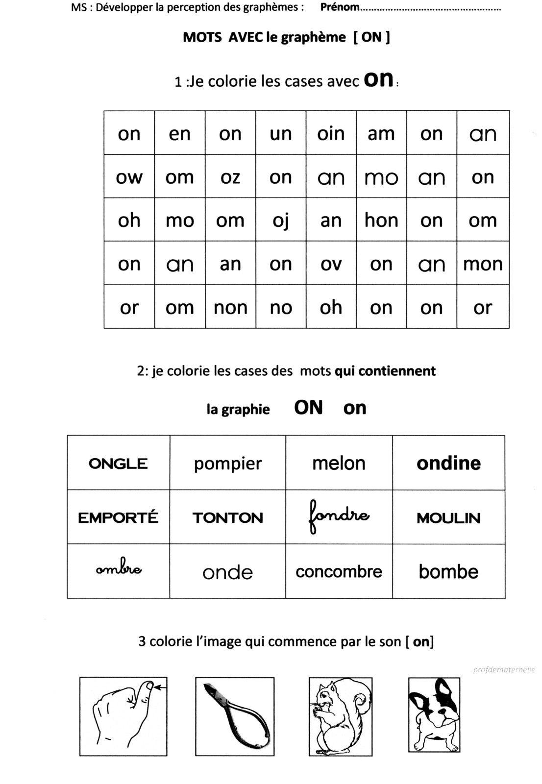 Fichier : Sons Et Lettres En Maternelle | Lettres D'âge avec Grande Section Maternelle Age