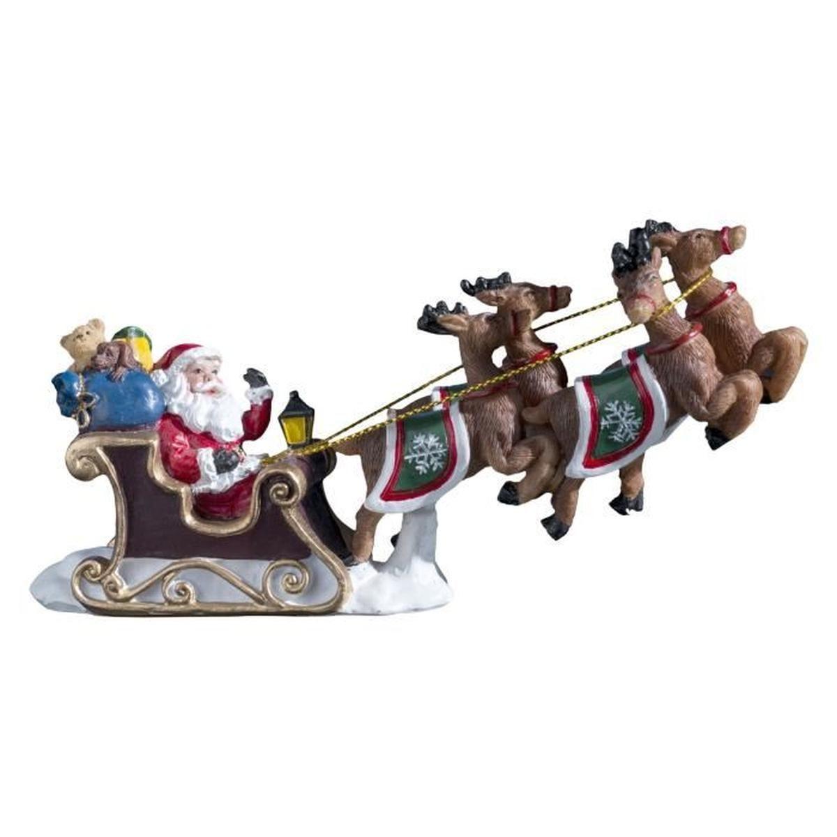 Figurine Traineau Du Père Noël - Achat / Vente Personnages destiné Image De Traineau Du Pere Noel