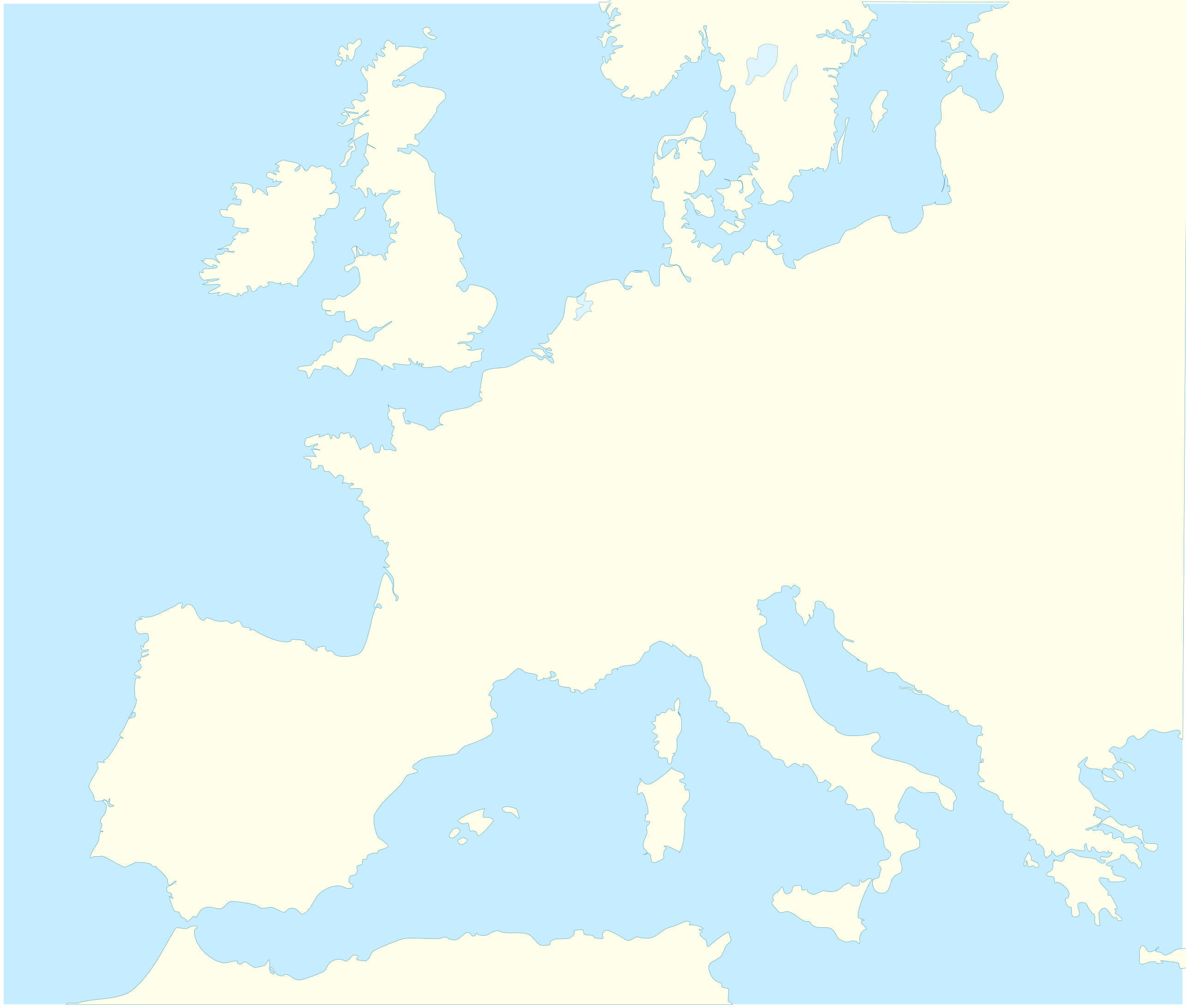 File:blank Map Western Europe Without Borders Atelier tout Ateliers Graphiques Ps