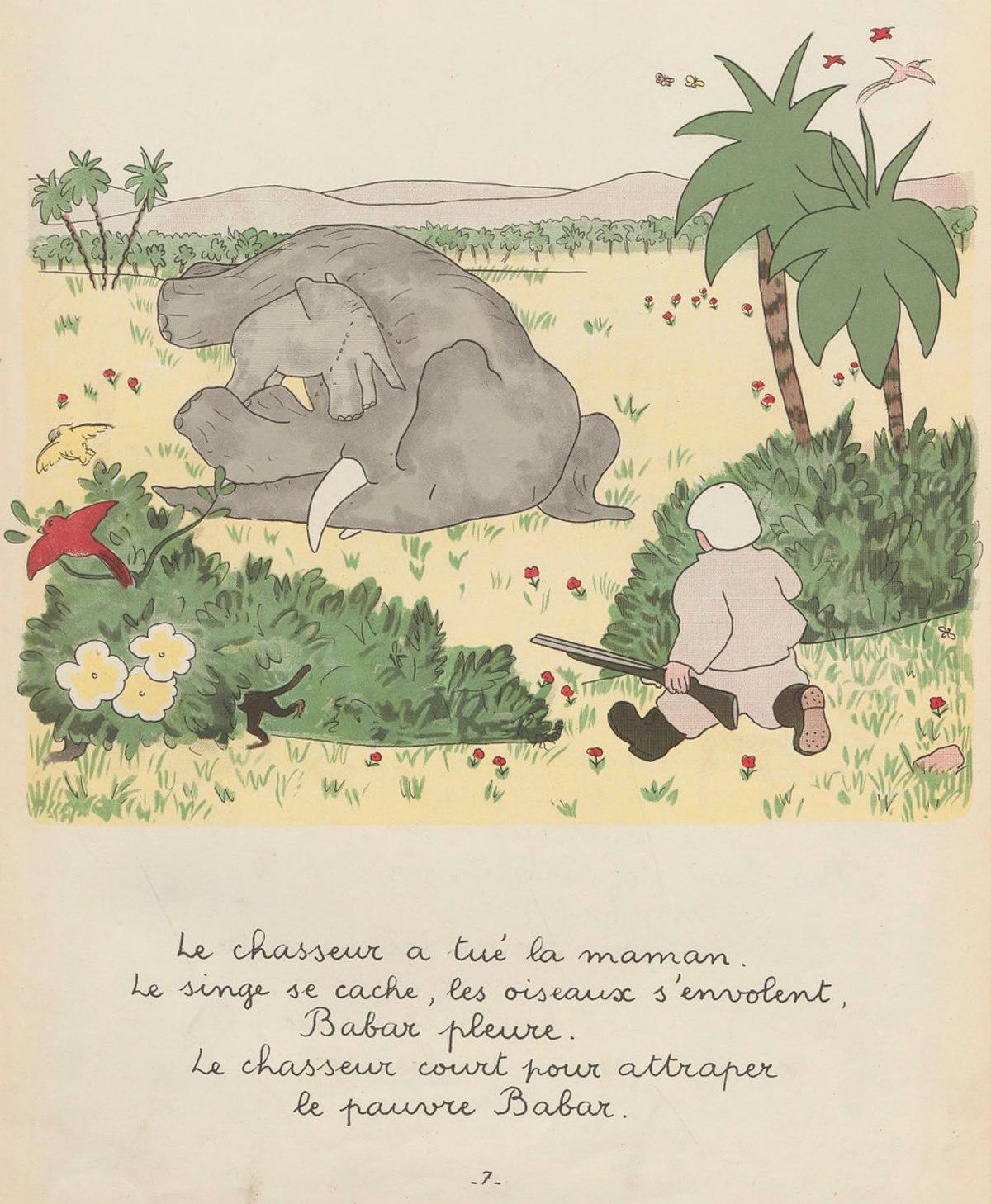 File:brunhoff – Histoire De Babar, Le Petit Éléphant (1931 concernant Singe De Babar
