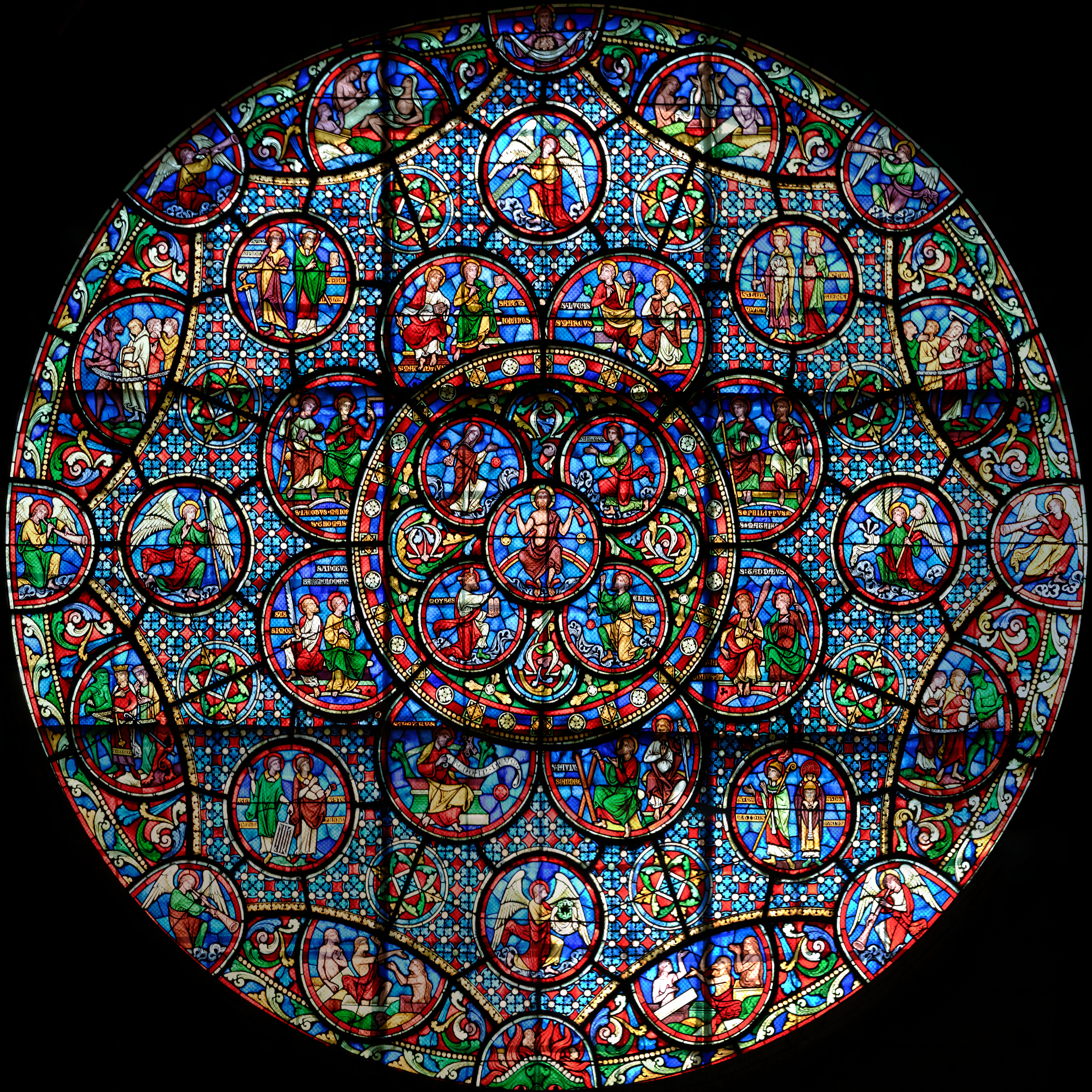 File:église Notre Dame De Dijon Rosace Sud - Wikimedia avec Image De Rosace