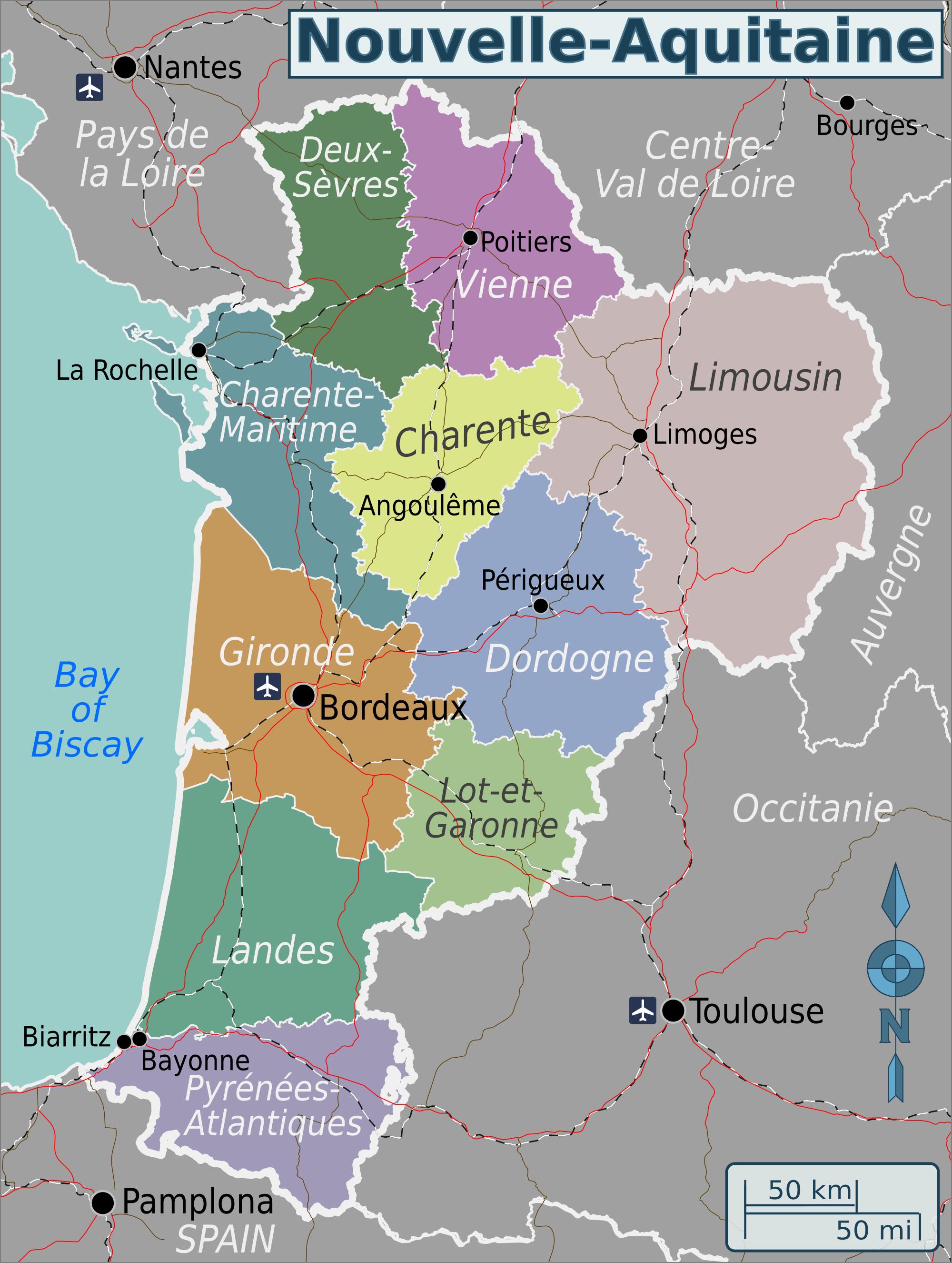 File:nouvelle Aquitaine Wv Region Map En - Wikimedia Commons intérieur Nouvelle Region France
