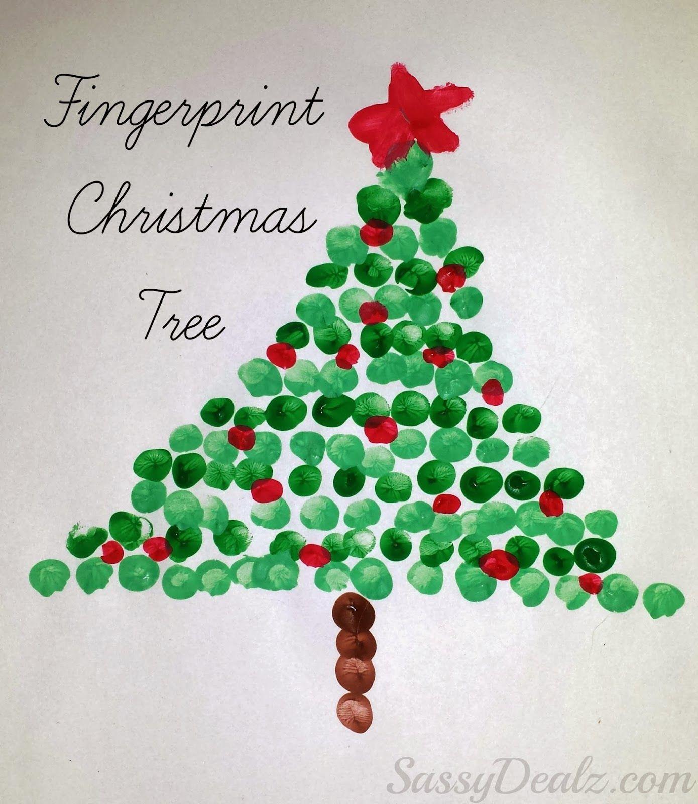 Fingerprint Christmas Tree Craft For Kids | Bricolage De destiné Bricolage De Noel Pour Maternelle
