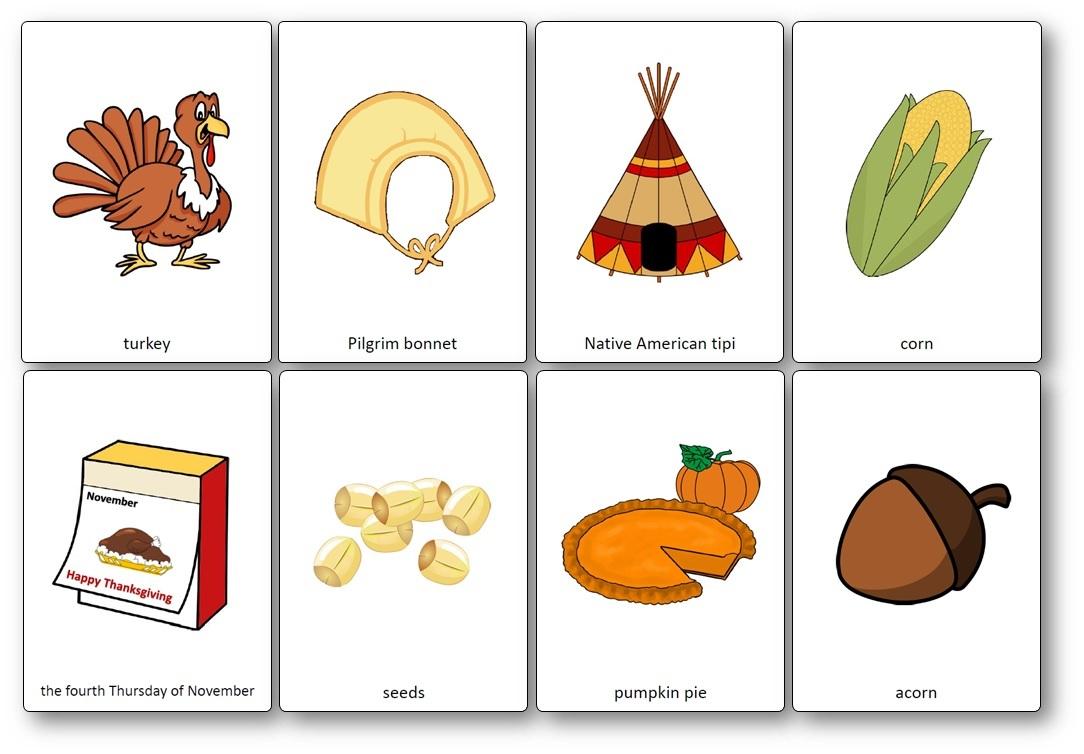 Flashcards Sur Le Thème De Thanksgiving En Anglais - Imagier concernant Frere Jacques Anglais