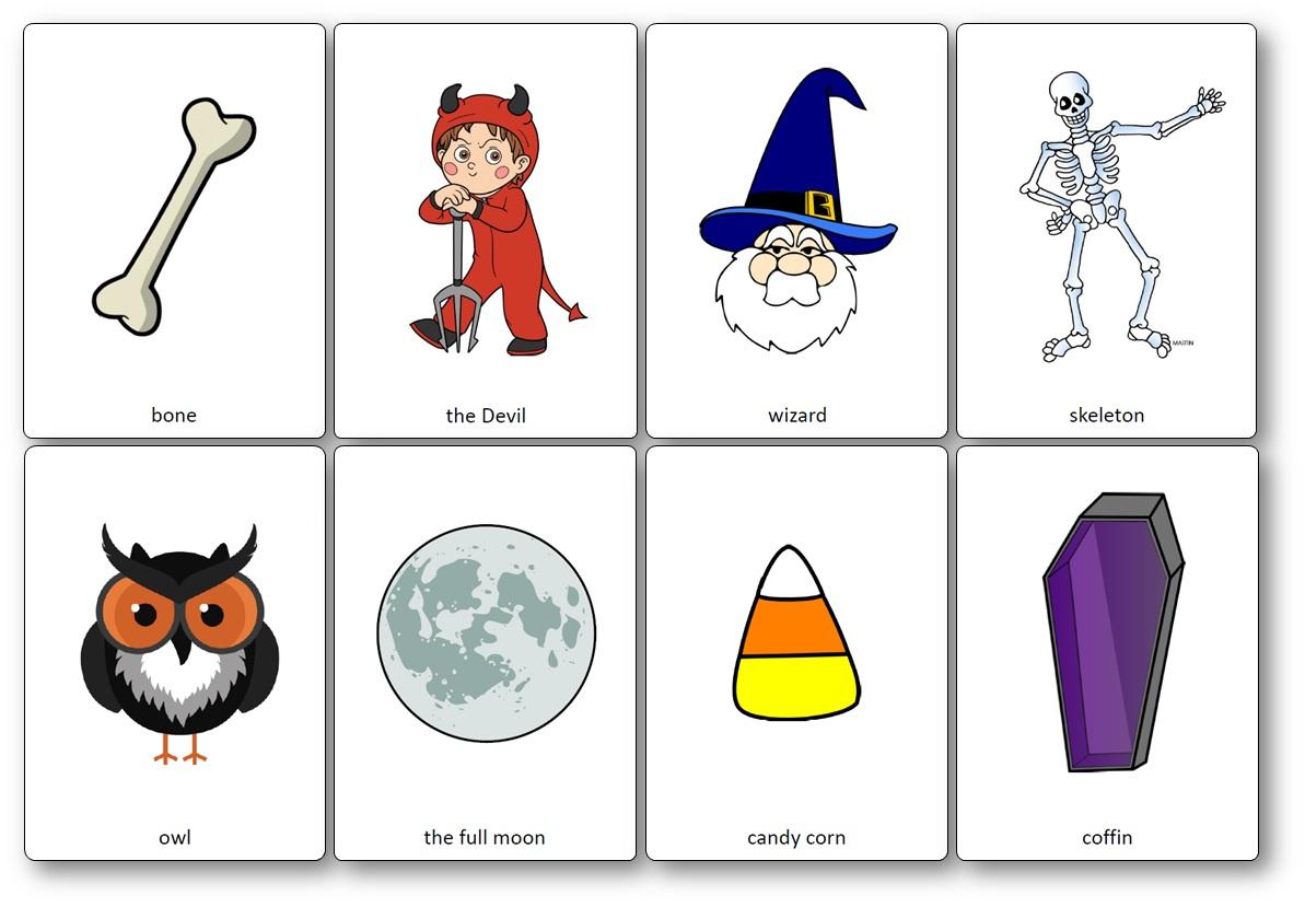 Flashcards Sur Le Thème D'halloween En Anglais - Flashcards pour Halloween Ce2