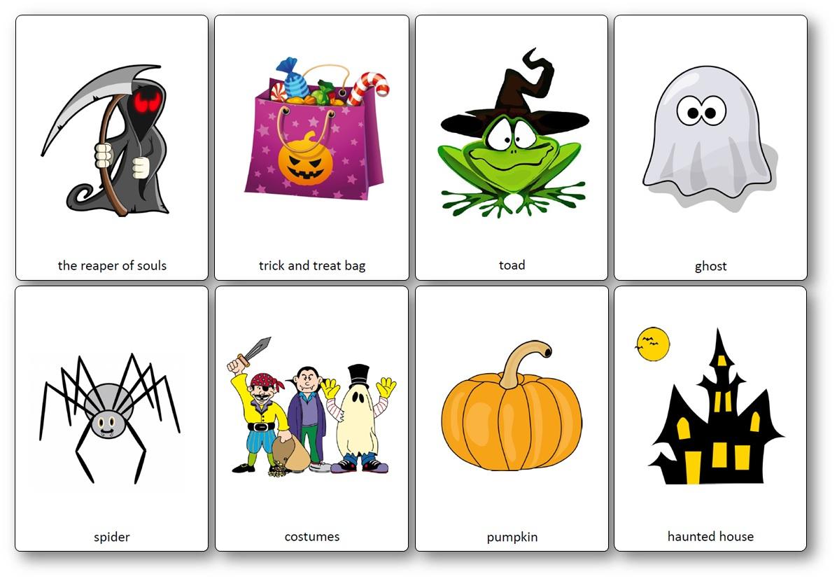Flashcards Sur Le Thème D'halloween En Anglais - Flashcards serapportantà Halloween Ce2