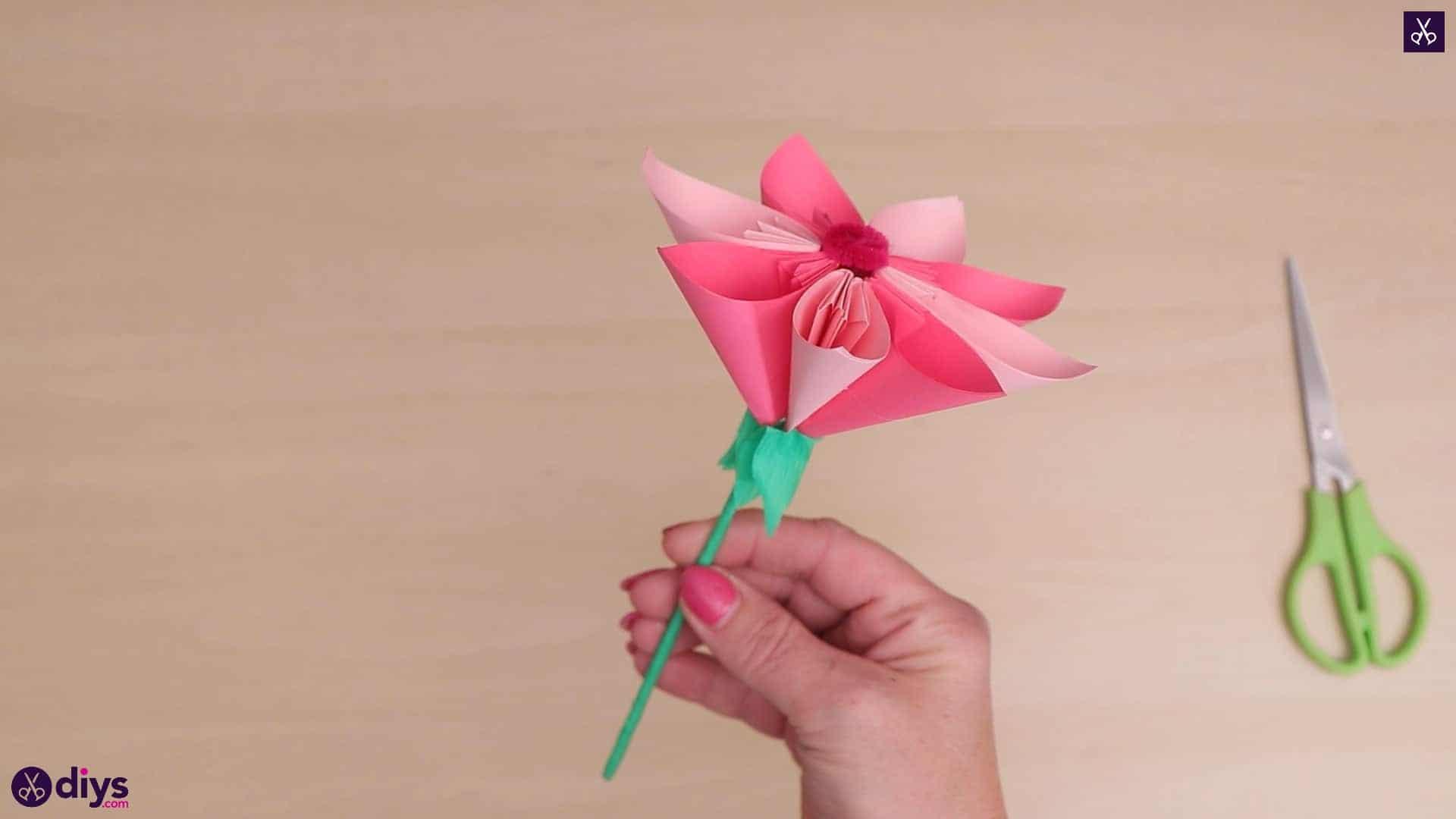 Fleur De Papier 3D Diy Facile - Housekeeping Magazine avec Origami Rose Facile A Faire
