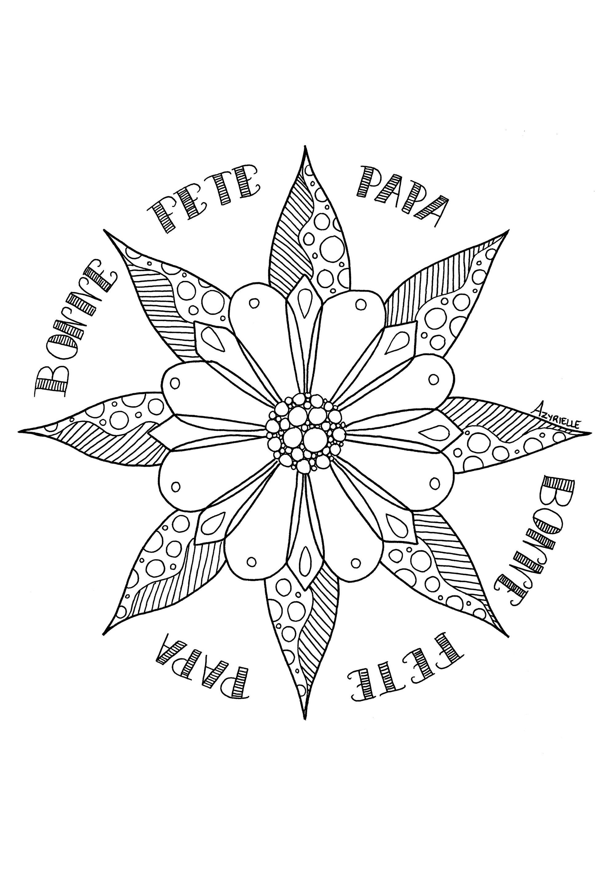 Fleur Fete Des Peres - Fête Des Pères - Coloriages pour Coloriage Fete Des Peres