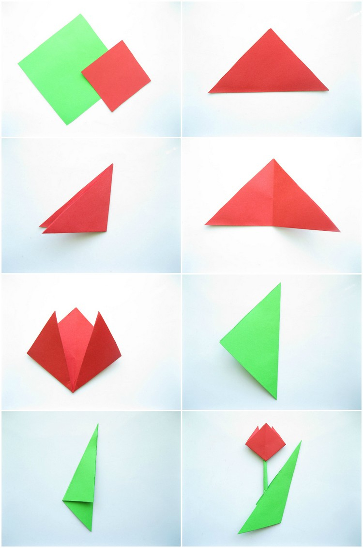 Fleur Origami Facile : 7 Idées De Pliage Fleur Original En tout Origami Facile A Faire En Français