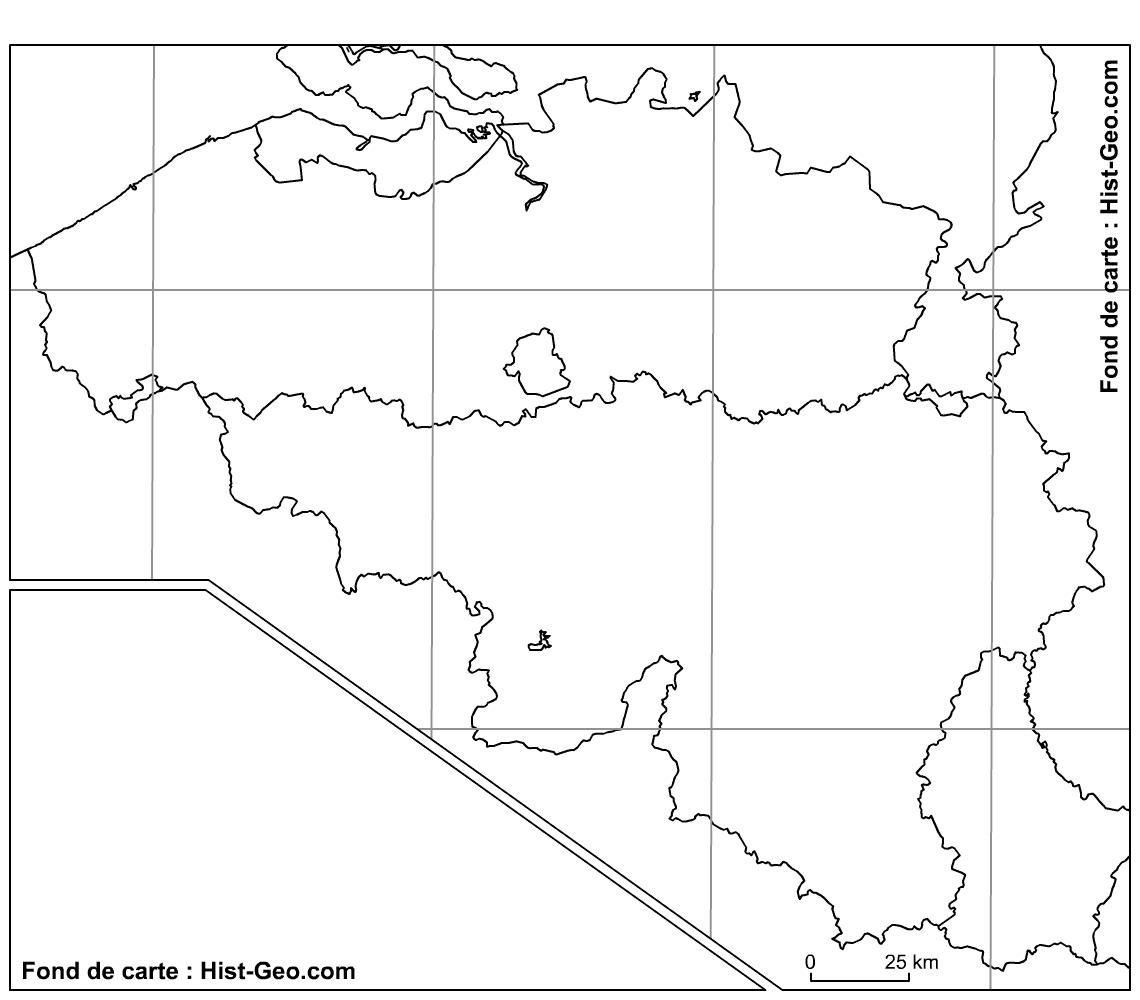Fond De Carte Vierge Des Régions De La Belgique (Parallèles concernant Carte Des Régions Vierge