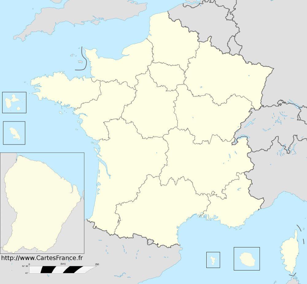 Fond+De+Carte+Des+Nouvelles+Régions+De+France | Carte Des dedans Carte Des Régions Vierge