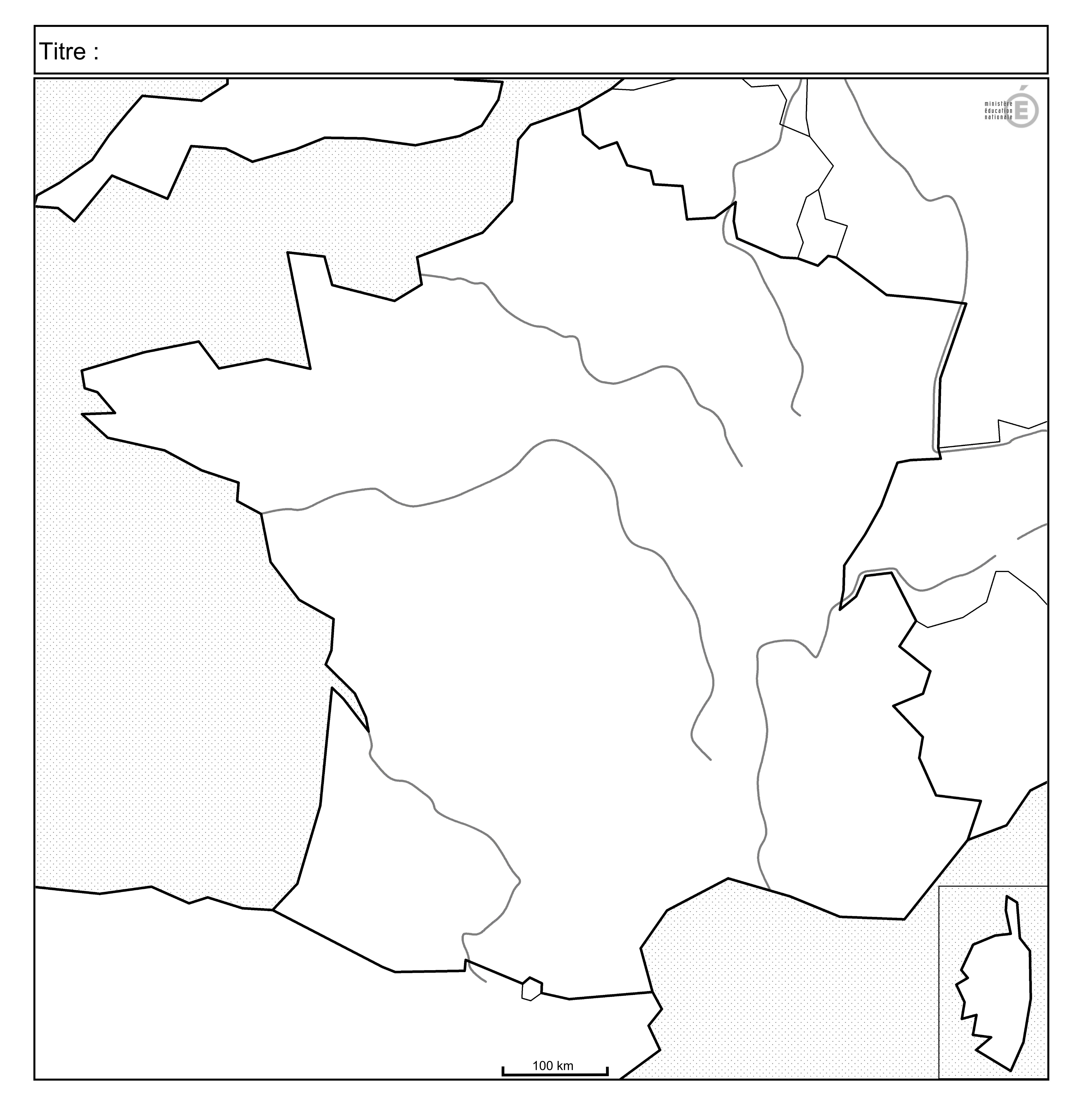 Fonds De Carte - Histoire-Géographie - Éduscol intérieur Carte Des Régions Vierge