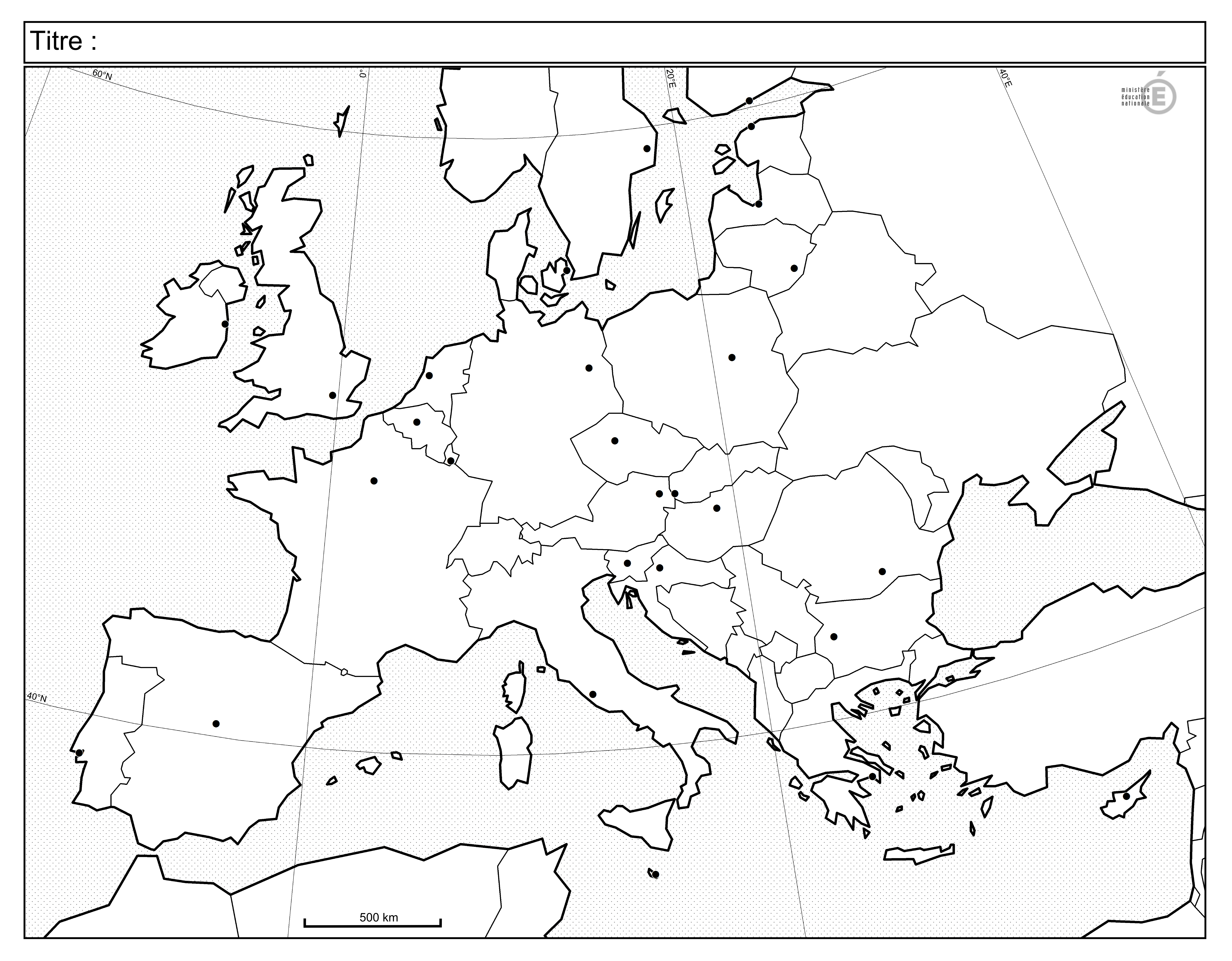 Fonds De Carte - Histoire-Géographie - Éduscol serapportantà Union Européenne Carte Vierge