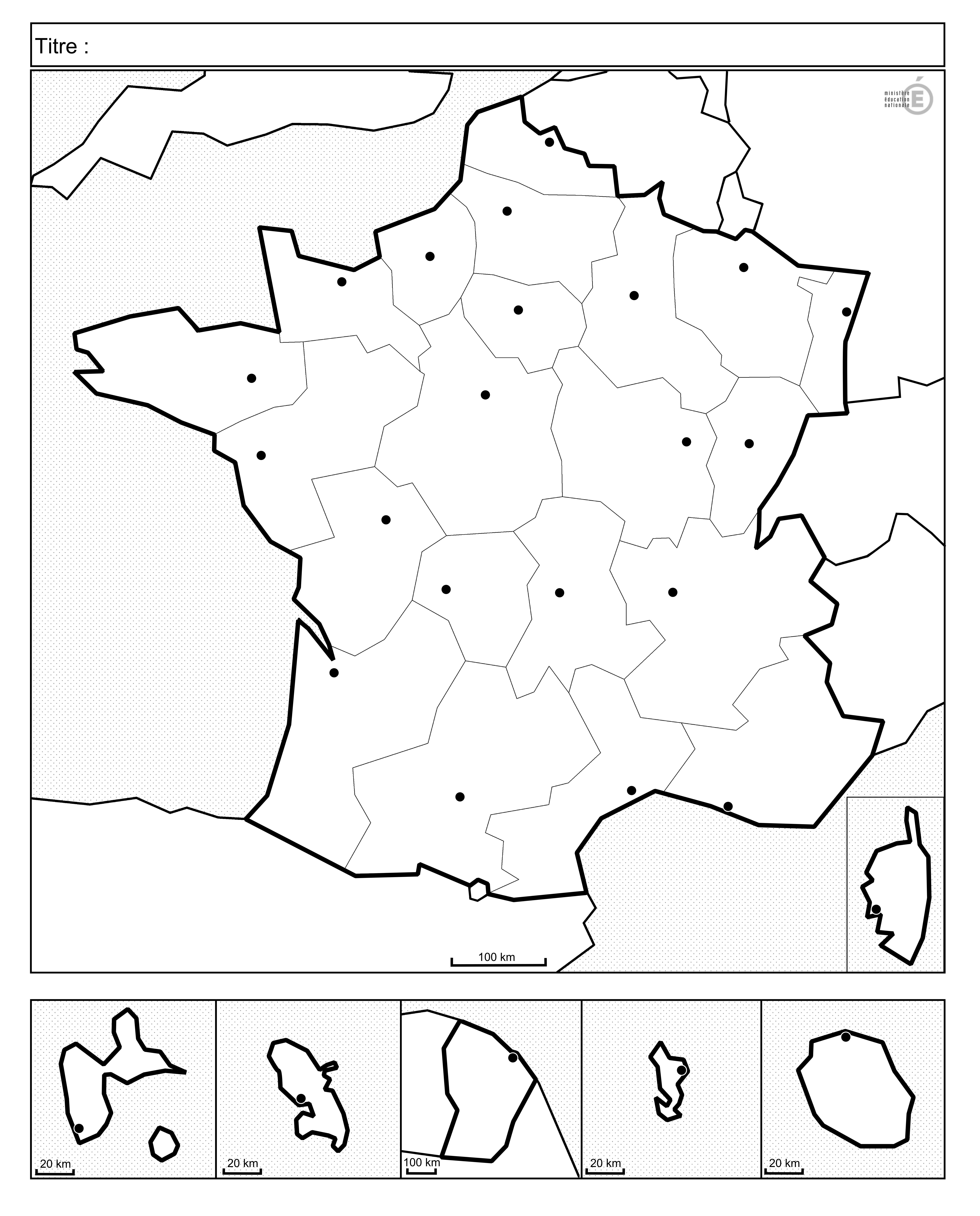 Fonds De Cartes De France Et Quiz à Carte Des Régions Vierge