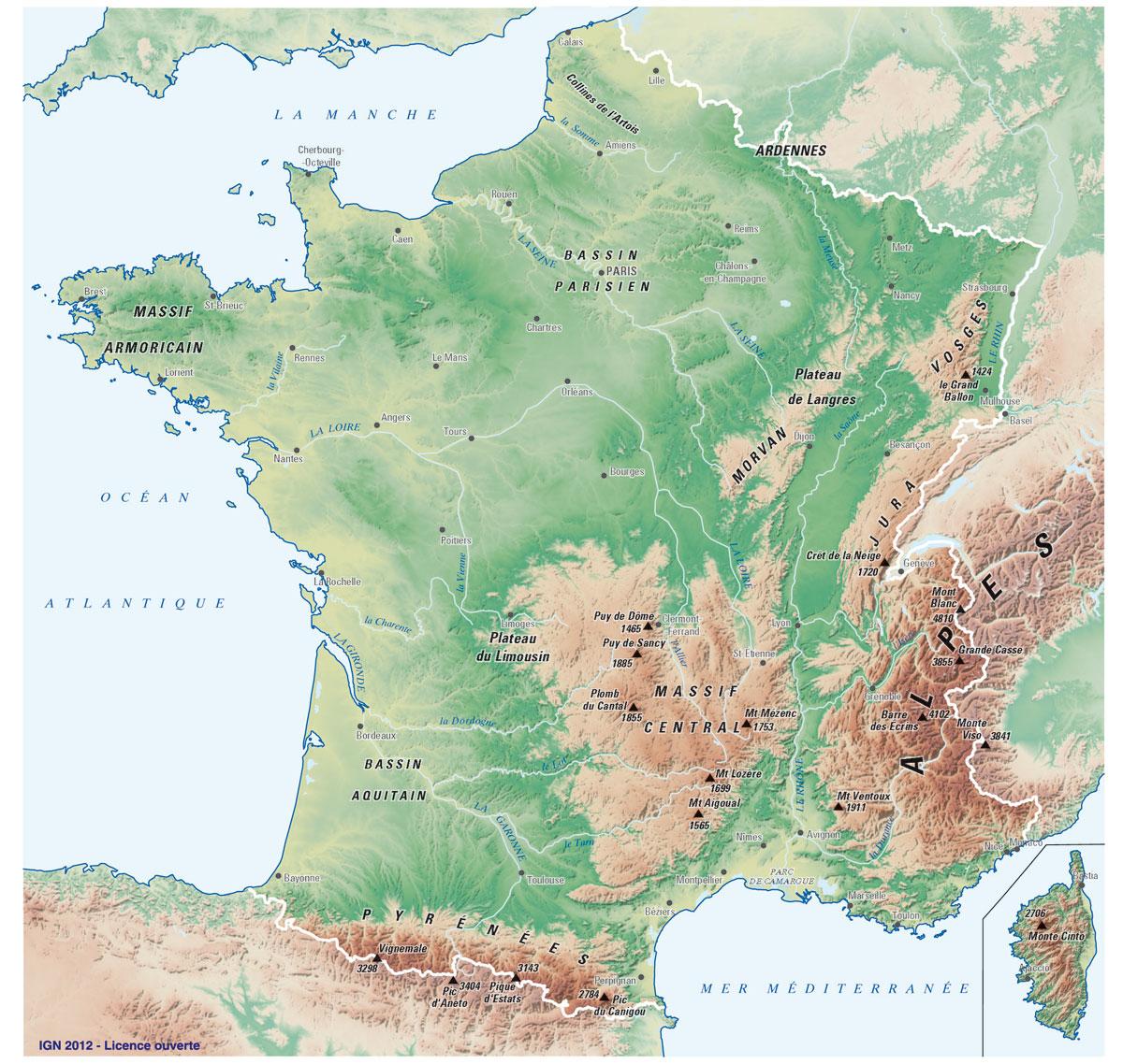 Fonds De Cartes | Éducation avec Imprimer Une Carte De France