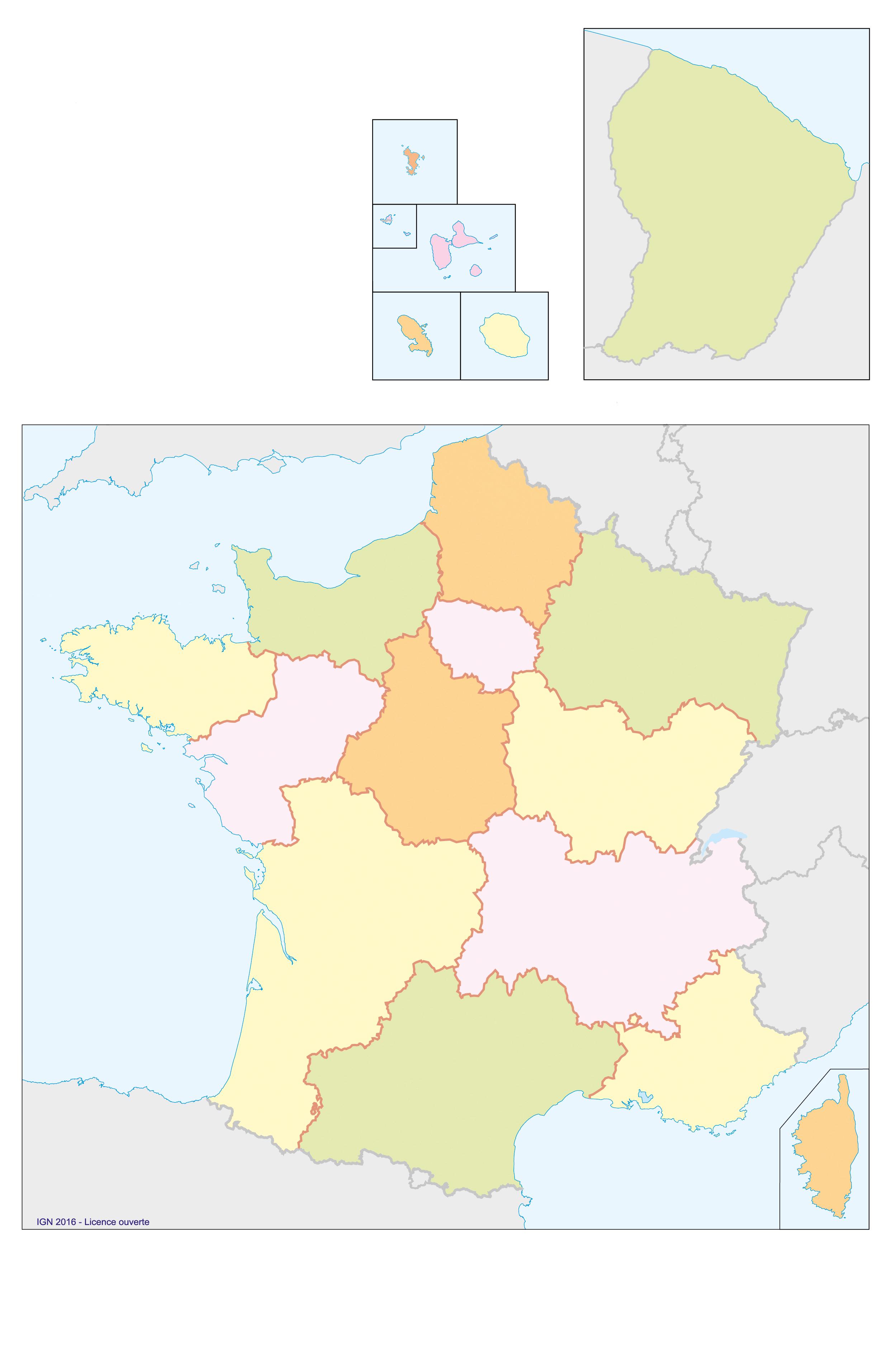 Fonds De Cartes | Éducation destiné Carte De France Avec Département À Imprimer