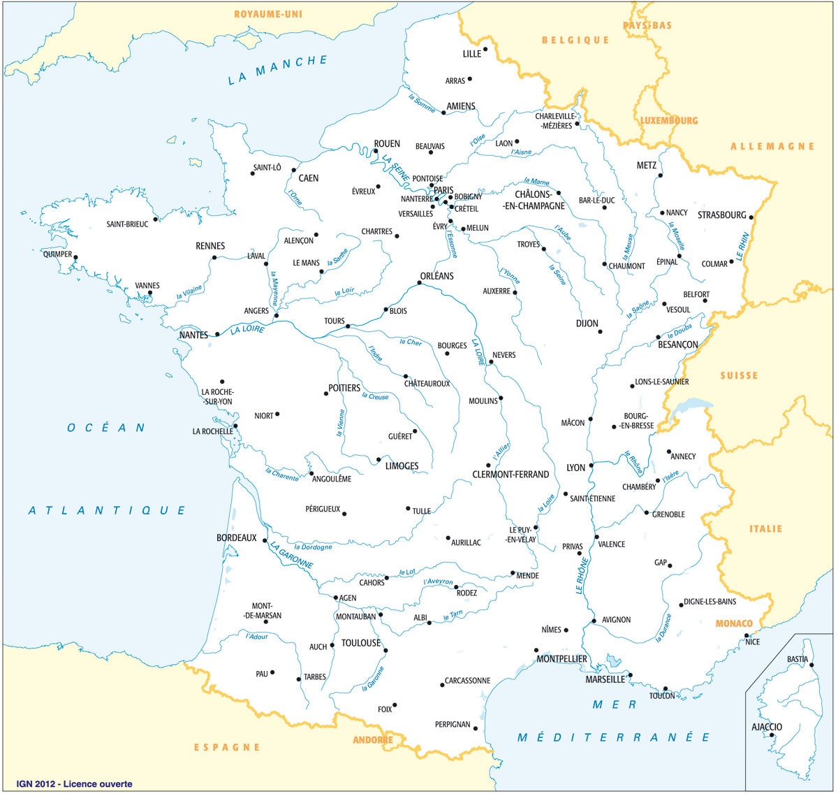Fonds De Cartes | Éducation destiné Imprimer Une Carte De France