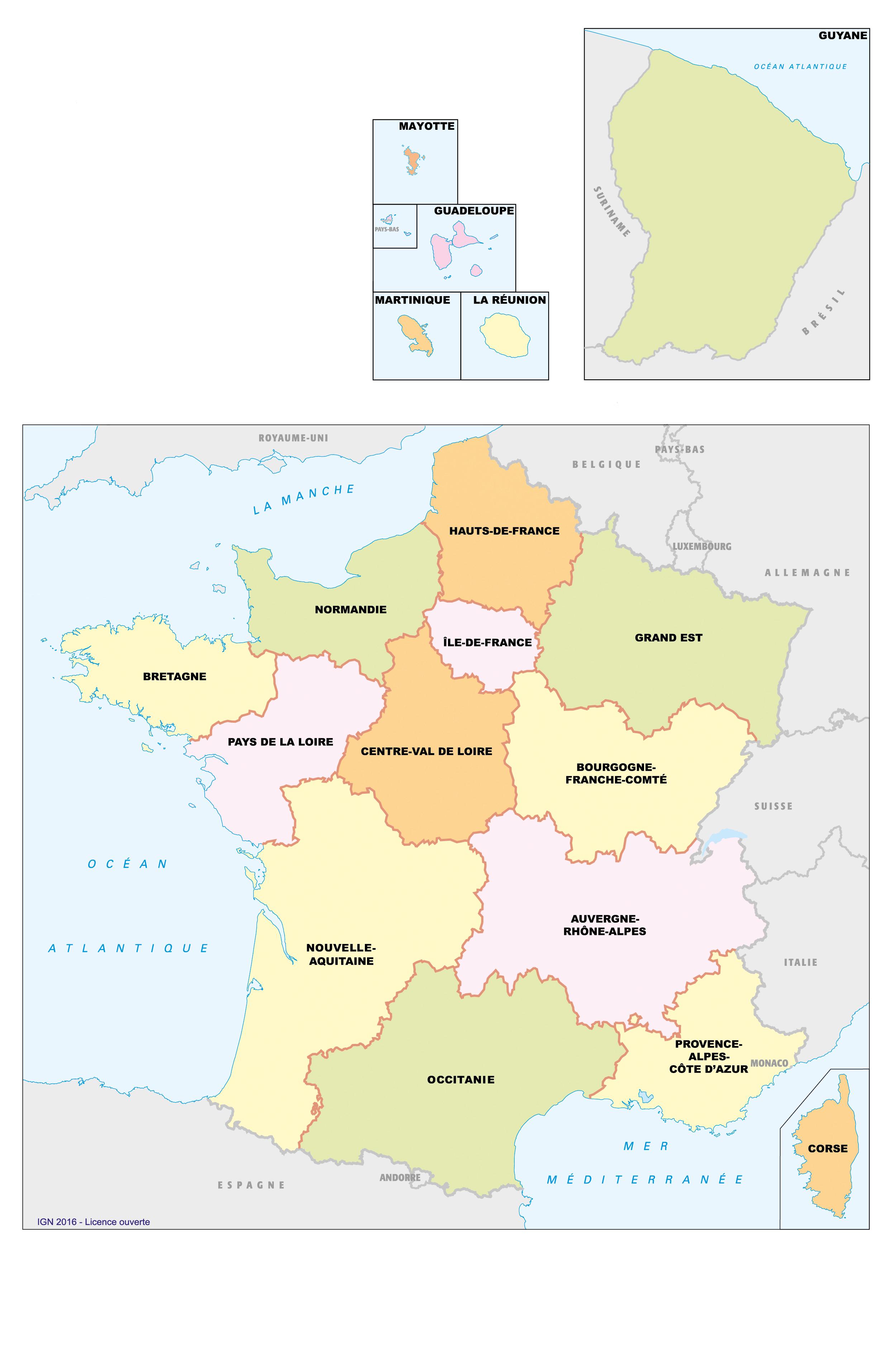 Fonds De Cartes | Éducation tout Carte De France Pour Les Enfants