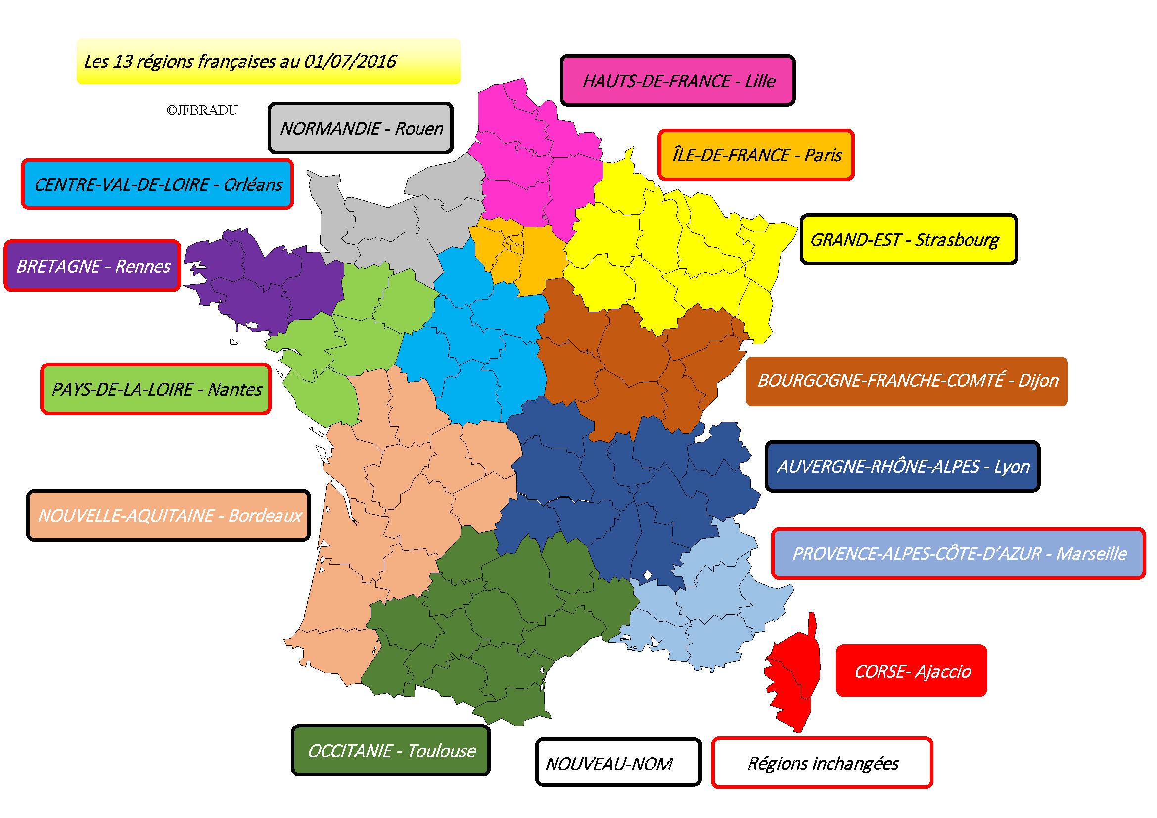 Fonds De Cartes France à Nouvelle Carte Des Régions De France