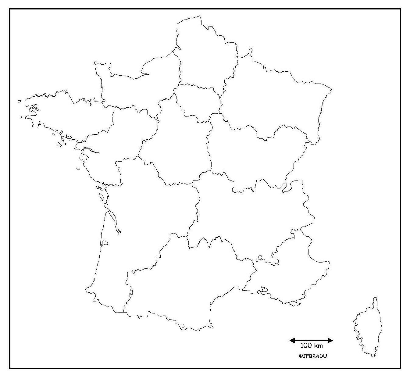 Fonds De Cartes France dedans Carte Des Régions Vierge
