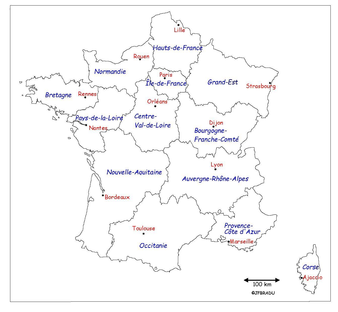 Fonds De Cartes France encequiconcerne Carte Des Régions Vierge