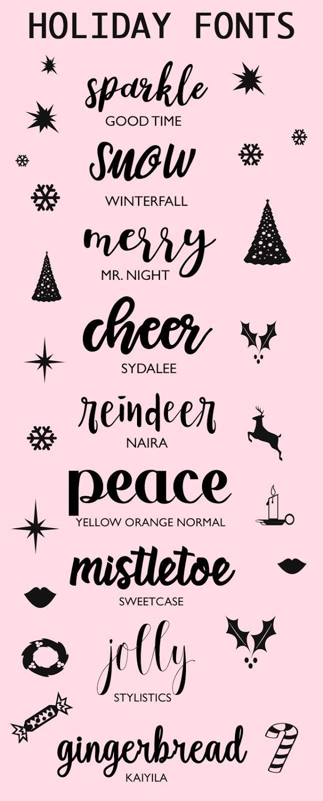 Fonts To Make Your Holidays Sparkle | Police Écriture intérieur Police Ecriture Noel