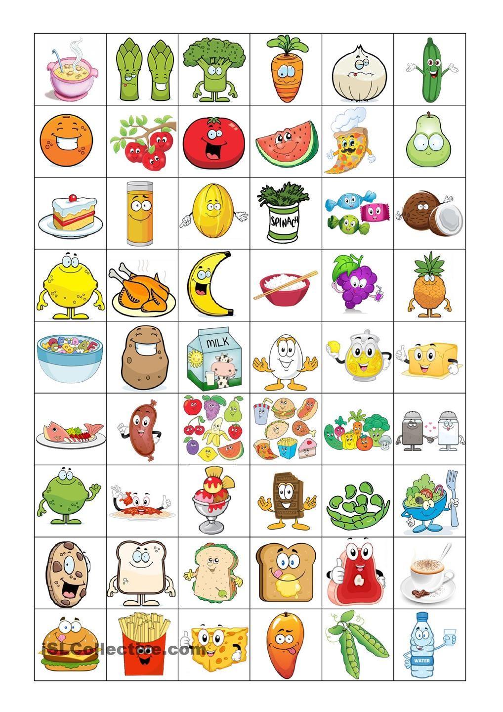 Food Bingo Concentration Game | Jeux A Imprimer, Apprendre L concernant Jeux De Concentration À Imprimer