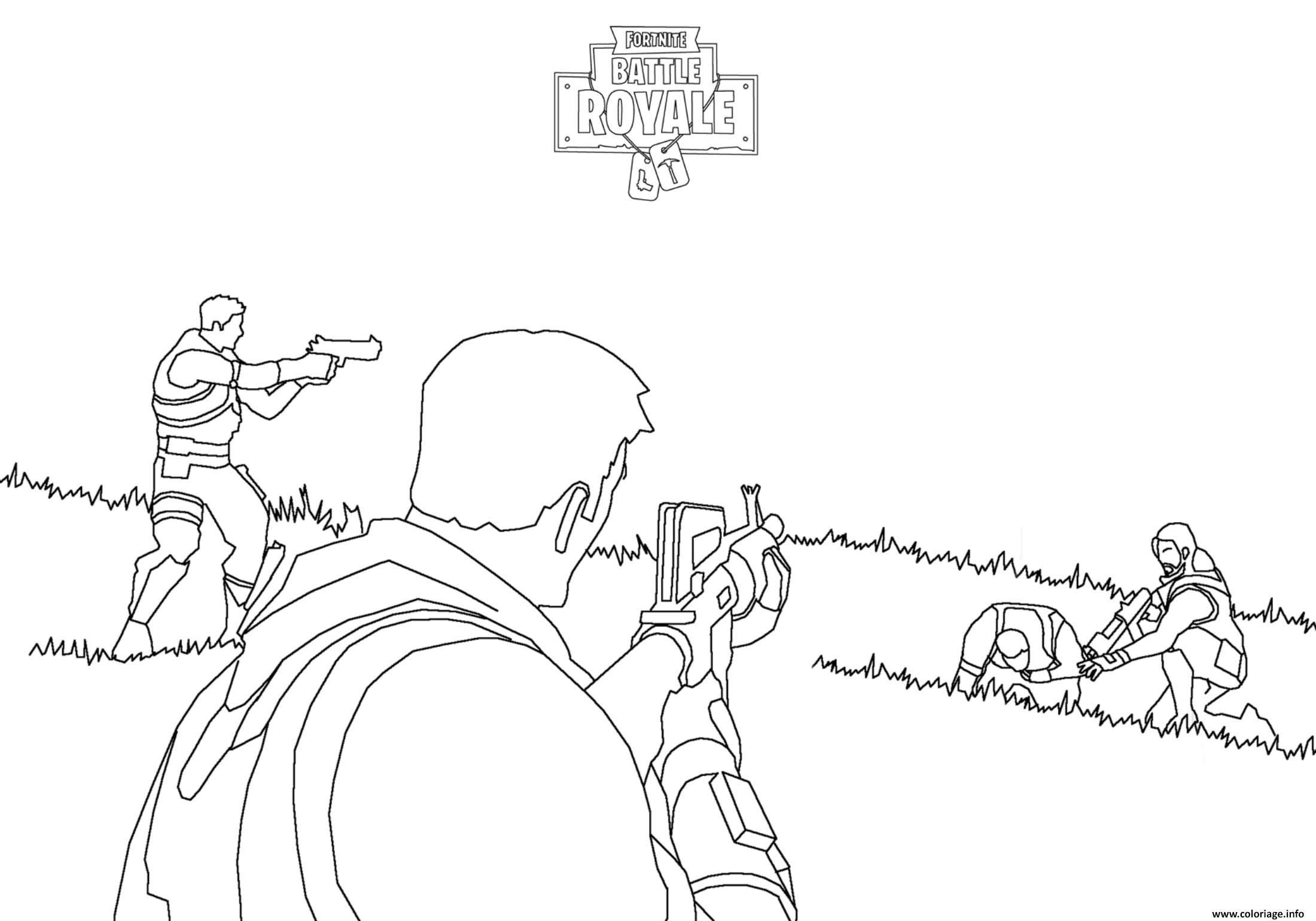 Fortnite Battle Royale : Combat - Coloriage Fortnite Battle dedans Zou Coloriage