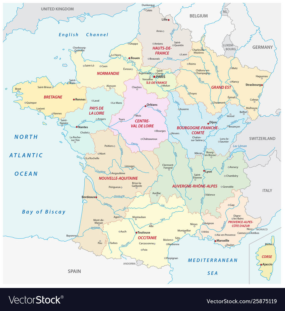 France Administrative Map With New Regions concernant Nouvelle Region France
