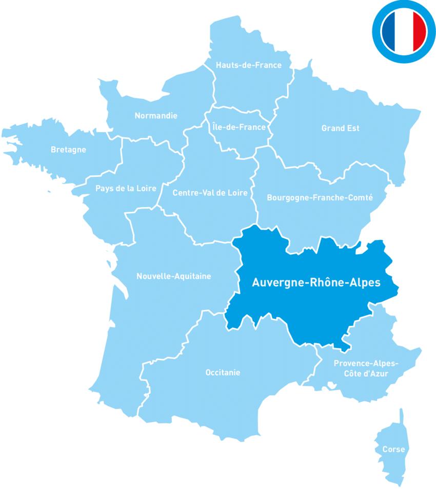 France Regions And Auvergne-Rhône-Alpes | Download serapportantà Nouvelle Region France