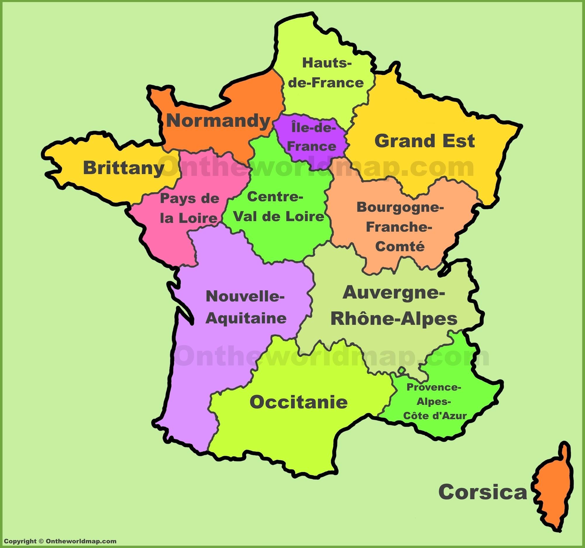 France Regions Map | New Regions Of France dedans Nouvelle Region France