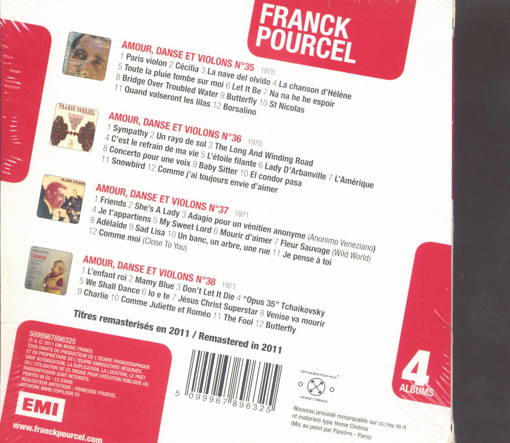 Franck Pourcel Franck Pourcel - 4 Albums (4-Cd) à Chanson Pense À Moi