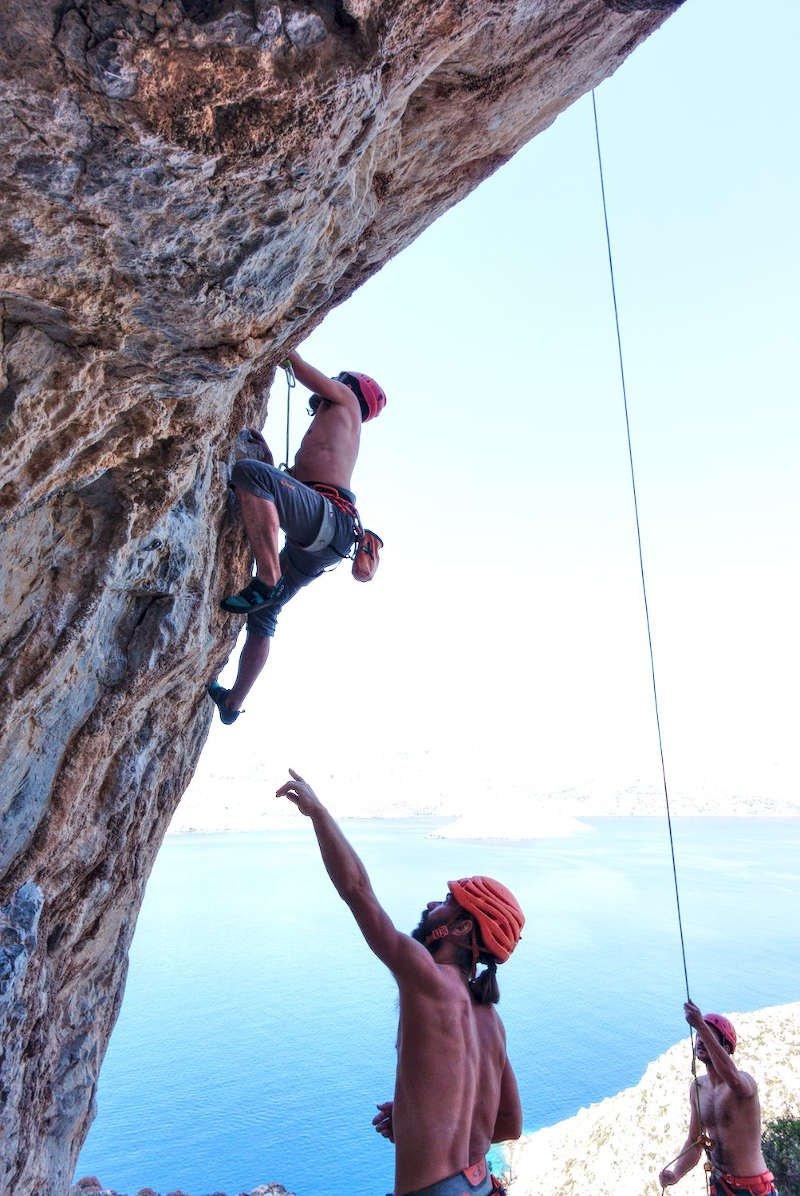 Fred Leconte, Grèce (Kalymnos), Moniteur D'escalade intérieur Grimper En Anglais