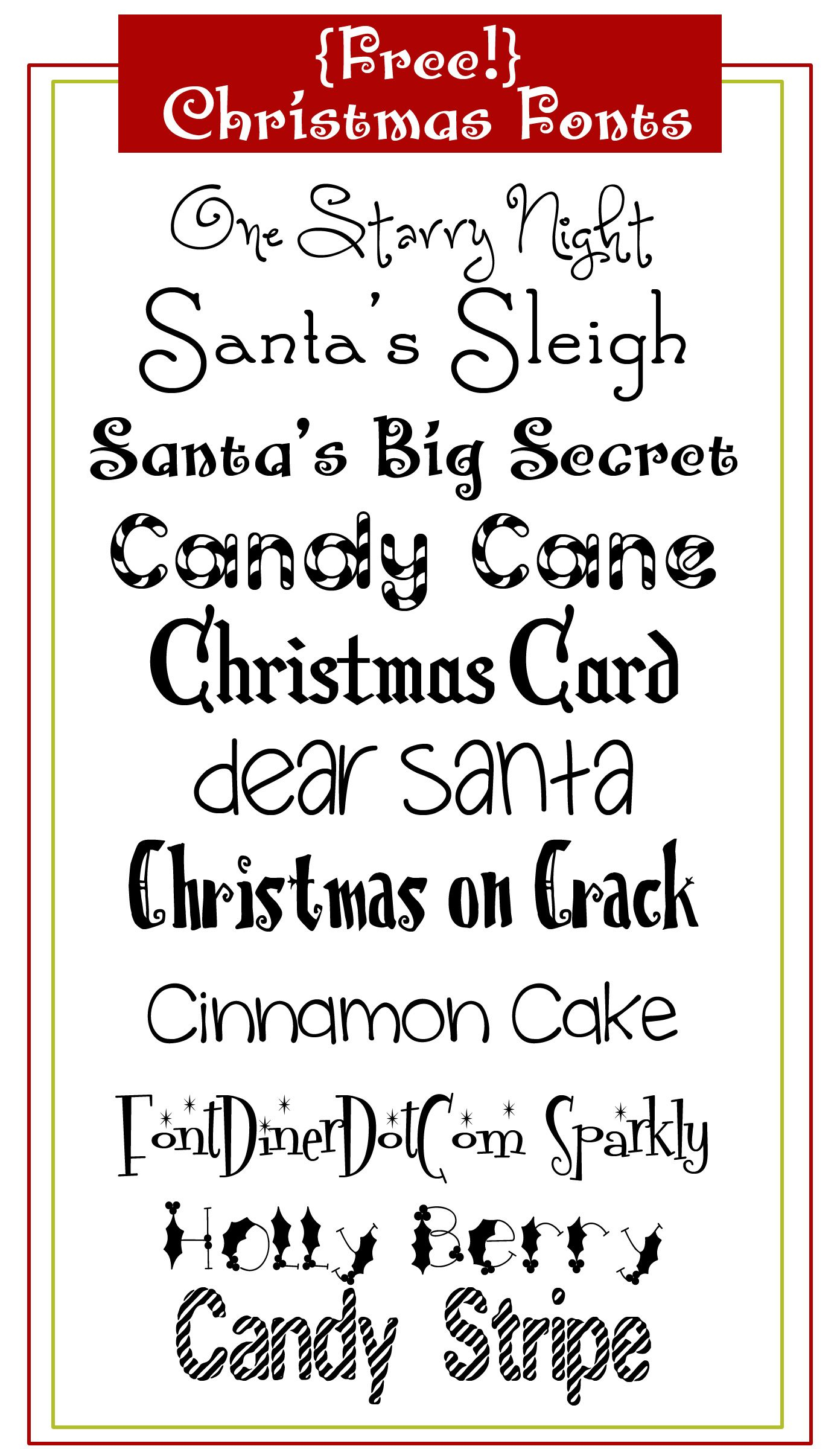 Free Christmas Fonts | Caligraphie, Scrapbooking À Imprimer avec Police Ecriture Noel