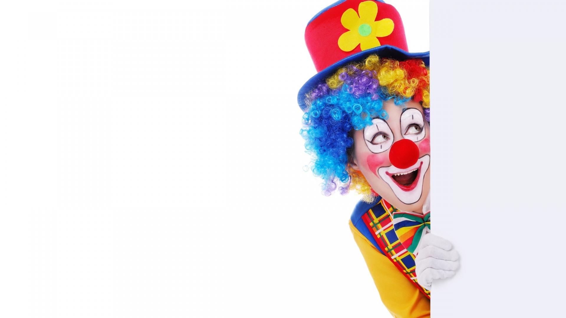 Free Download Colorful Clown Funny Smile White Wooden Board dedans Etoil Clown