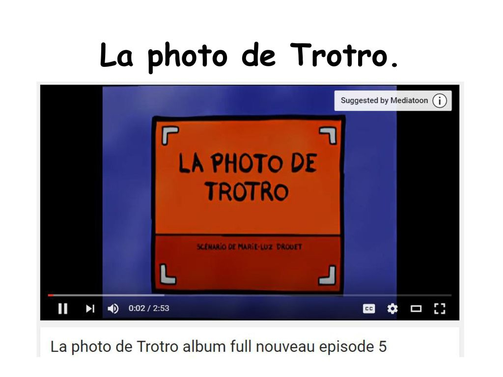 French Cartoon Pack Les Dessins Animés. - Ppt Video Online destiné Nouveau Trotro
