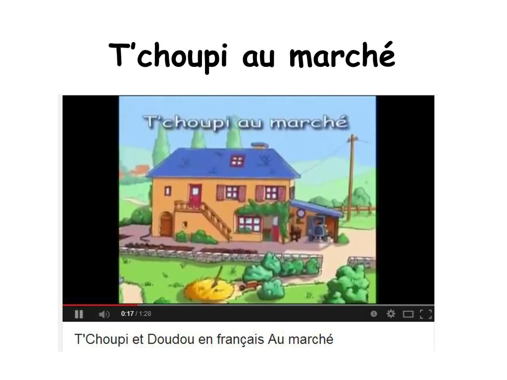 French Cartoon Pack Les Dessins Animés. - Ppt Video Online tout Tchoupi Au Marché
