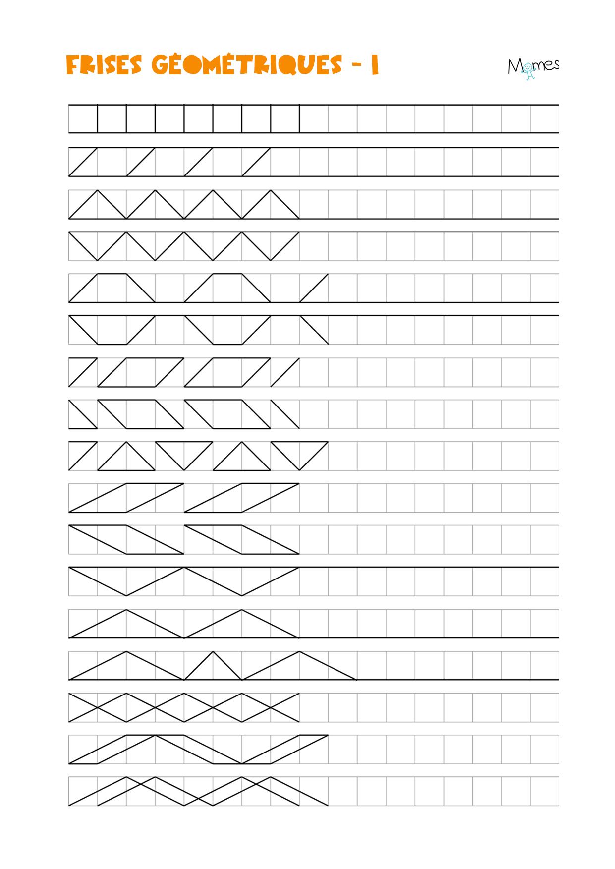 Frises Géométriques - Momes serapportantà Figures Géométriques Ce1