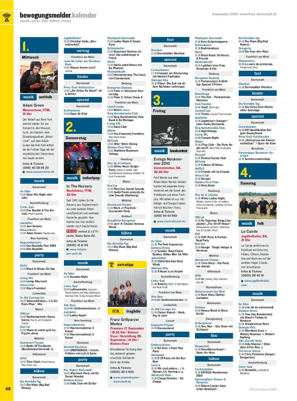 Frizz - Das Magazin Für Darmstadt - 09/10 By Frizz Media intérieur Album Printemps Gs